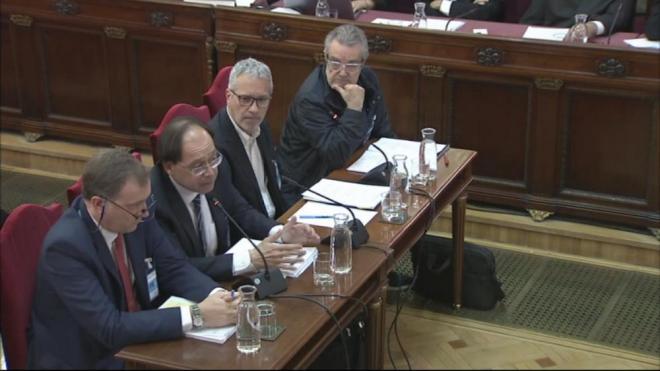 Els quatre pèrits imiaris i d'arquitectura , en la declaració al Tribunal Suprem, ahir