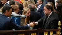 Oriol Junqueras i Pedro Sánchez al Congrés dels Diputats