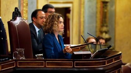 La presidenta del Congrés dels Diputats, Meritxell Batet