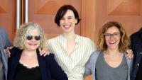 Ariadna Gil, amb Lurdes Barba i Chantal Aymée, dijous al TNC