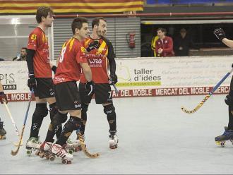 Imatge del partit que va jugar el desembre a Mataró la selecció contra Xile