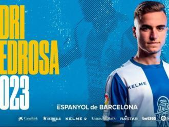 Imatge promocional de l'Espanyol que acaba de renovar a Pedrosa fins al 2023.