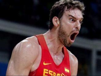 Pau Gasol amb la selecció espanyola