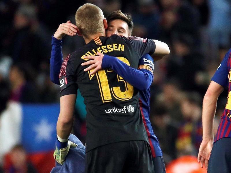 Leo Messi i Jasper Cillessen podrien jugar dissabte el seu últim partit junts
