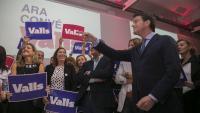 Manuel Valls durant la seva intervenció a la festa de cloenda de la campanya