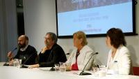 Mauri, Benach, De Gispert i Paluzie, ahir, a la seu del Col·legi de Periodistes de Catalunya