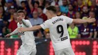 Rodrigo celebra el segon gol del València