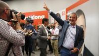 El cap de llista del PSC per Barcelona, Jaume Collboni, aquest diumenge