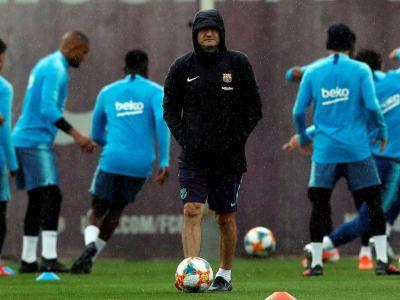 Valverde, en l'entrenament d'ahir