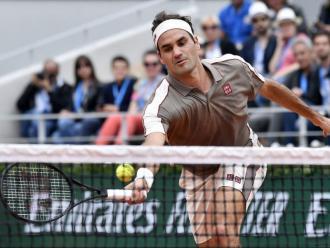 Volea marca de la casa de Roger Federer