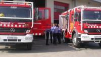 Un foc en unes bales de paper afecta una empresa de cel·lulosa de Puigpelat