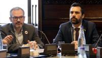 El vicepresident primer, Josep Costa, i el president Roger Torrent