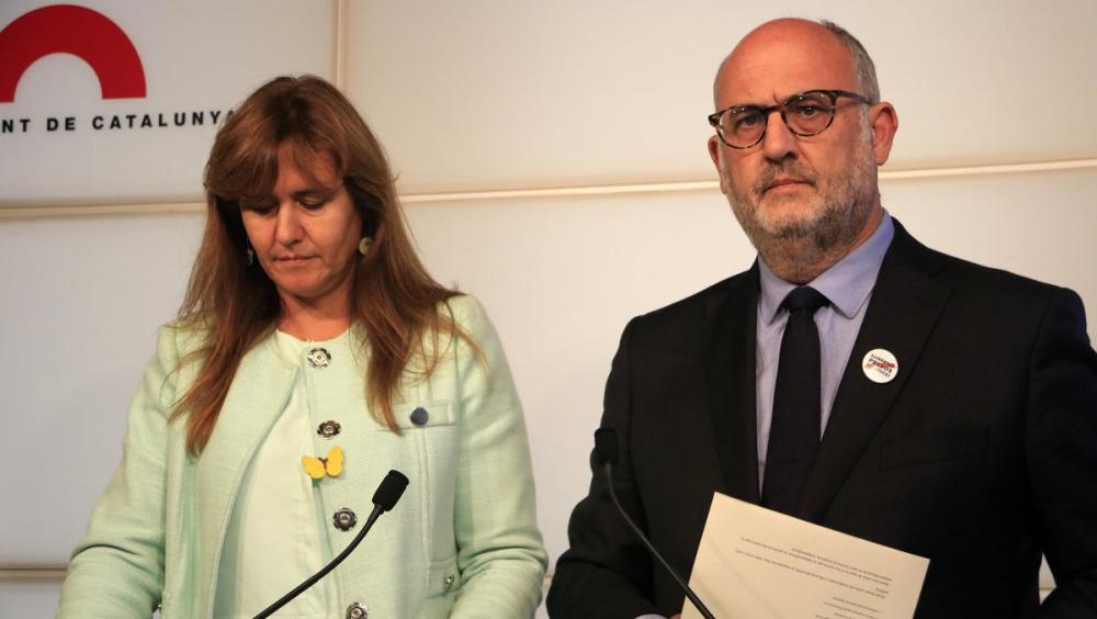 Laura Borràs i Eduard Pujol, al Parlament