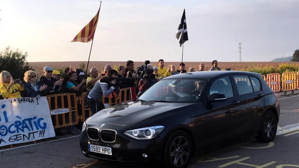 L'arribada de l'advocat Jordi Pina a Lledoners