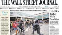 Portada del 'Wall Street Journal' amb les càrregues policials a les protestes contra la condemna de l'1-O