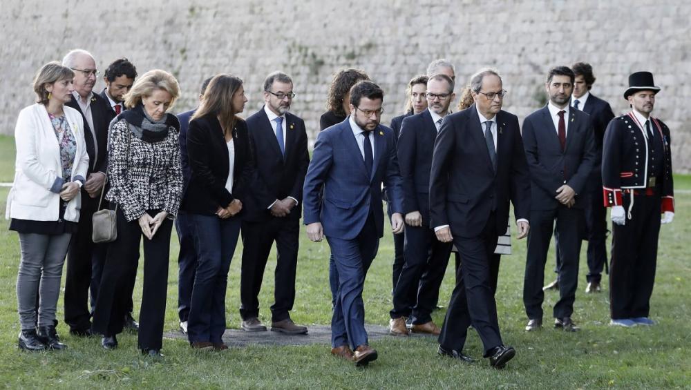 Torra i Aragonès a l'acte celebrat a Montjuïc