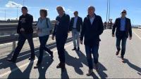 El president de la Generalitat, Quim Torra, acompanyat per l'ex lehedakari Ibarretxe s'han afegit a la Marxa per la Llibertat