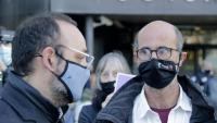 L'advocat Benet Salellas i el germà de la víctima Joan Jubany