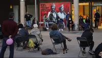Un aspecte de l'assemblea que es va fer ahir a Girona per preparar la mobilització de dissabte