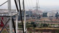 Línies d'alta tensió sobre la ronda de Dalt a Esplugues de Llobregat