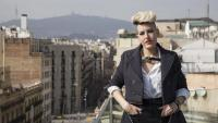 L'assessora d'imatge Marta Pontnou, fotografiada ahir a la terrassa del Negresco Princess Hotel de Barcelona, amb jaqueta de Míriam Ponsa