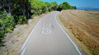 Lloc de la carretera on un ciclista va trobar el cadàver