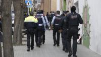 Imatge de l'operatiu policial a Mataró