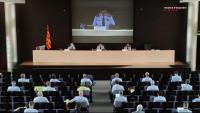 El major dels Mossos Josep Lluís Trapero, en la trobada que ha convocat amb comandaments per parlar dels aldarulls