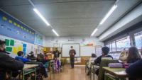 Una aula de l'escola Taialà de Girona, al principi del segon trimestre