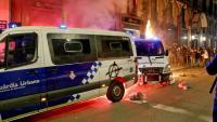 Aldarulls durant la manifestació de dissabte a Barcelona