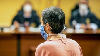Maria Àngels Freixas, ahir durant la seva declaració al judici