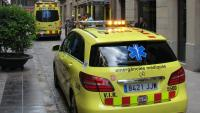 El SEM acut per atendre un accident laboral a Girona