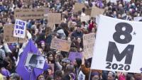 Una manifestació del 8-M de l'any passat