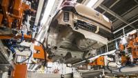 Aspecte d'una de les línies de producció de la fàbrica de Seat a Martorell