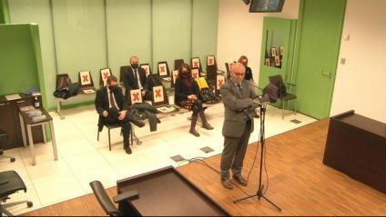 El secretari general del Parlament, Xavier Muro, declara com a testimoni en el judici als síndics electorals de l'1-O, ahir