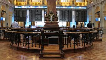 Imatge del parquet de la Borsa de Madrid