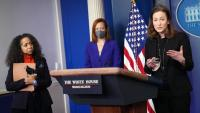 Acre de presentació del Consell de política de gènere, ahir a la Casa Blanca, a Washington