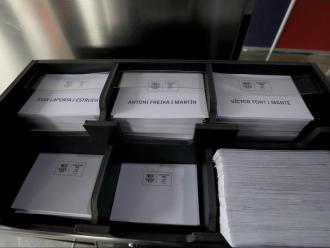 Les butlletes ja estan preparades al Camp Nou
