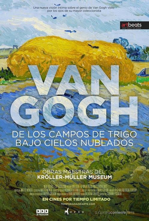 Van Gogh. De los campos de trigo bajo cielos nublados